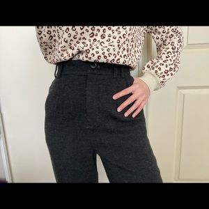 ZARA High-waisted pants with front pleats